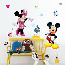mickey minnie mouse cartoon wall stickers for kids room