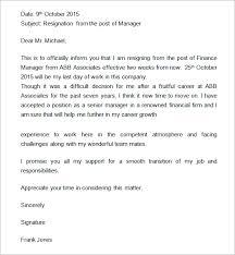 resignation exles printable resignation letter 2 week notice