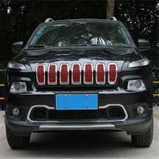 jeep grill decal fit for jeep cherokee 2014 2016 car front center grill mesh grille
