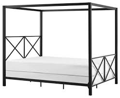 Contemporary Canopy Bed Dhp Rosedale Modern Romance Metal Queen Canopy Bed Black