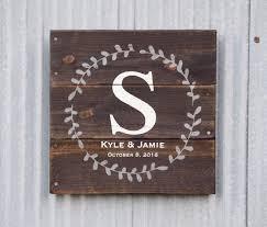 custom wedding presents wedding gift sign name established date sign custom wedding gift