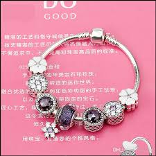 bracelet with hearts images Sterling silver 925 radiant hearts charm murano beads white jpg
