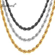 black gold chain necklace images Starlord 3mm 316l stainless steel black gold color dookie rope jpg