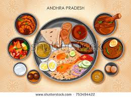 cuisine illustration illustration traditional andhrait cuisine food meal stock vector
