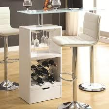 White Pub Table Set - wine rack u0026 stemware storage bar table w tempered glass top set