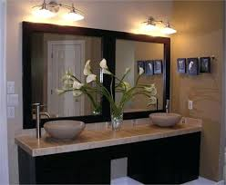 bathroom double vanity mirror ideas with led lights side