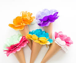 tissue paper hello wonderful make tissue paper cone flowers