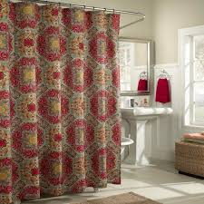 Burgandy Shower Curtain Red And Gold Shower Curtain Red And Gold Shower Curtain Amazing