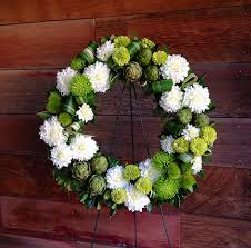 modern green white memorial wreath floral