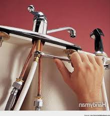 Repairing A Kitchen Faucet by How To Replace A Kitchen Faucet With Sprayer Best Kitchen Design