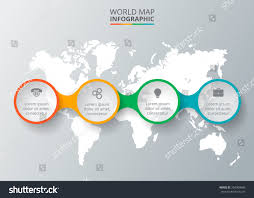 Concept Map Template Vector World Map Infographic Elements Template Stock Vector
