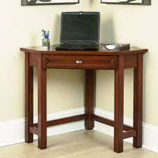 Rustic Home Office Furniture Home Office Small Dark Brown Wooden Corner Desk For Small Home