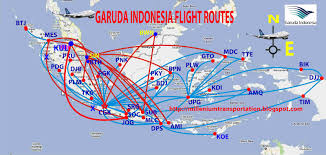 Delta Route Maps by International Flights Garuda Indonesia Route Map