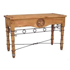 Rustic Pine Nightstand Shop Million Dollar Rustic Pine Sofa Table At Lowes Com