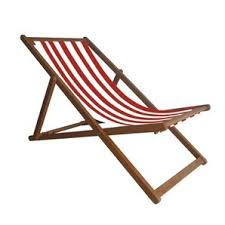 mimosa red stripe deck chair bunnings warehouse outdoor