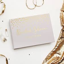 bridal shower guest book bridal shower guest book album with gold foil lettering