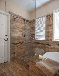 Walk In Bathroom Ideas by Walk In Shower Ideas For Master Bathroom With Glass Divider And