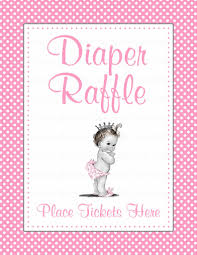 diaper raffle tickets for baby shower princess baby shower theme