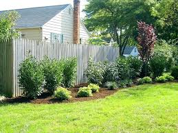 Privacy Fence Ideas For Backyard Privacy Fencing Ideas For Backyards Landscaping Along Fence Ideas