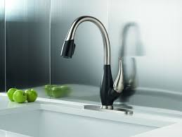 kitchen delta one touch faucet restaurant style kitchen faucet
