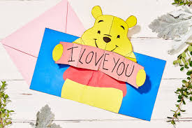 winnie the pooh valentines day winnie the pooh pop up s day card disney family