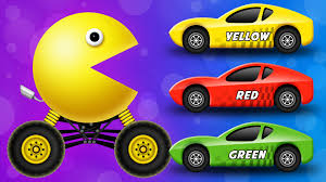 Colors For 2016 by Colors For Children To Learn With Packman Cartoon Car Toys