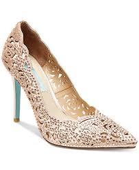 Wedding Shoes Macys Blue By Betsey Johnson Elsa Evening Pumps Pumps Shoes Macy U0027s