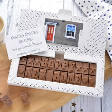 new house gift new home gift personalised chocolate delivered morse toad