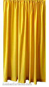 Yellow Curtain Bright Solid Yellow Velvet Curtain 96 Inch High Panel