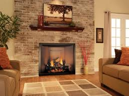 brown and white painting brick fireplace how to image of picture