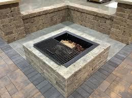 Square Fire Pit Kit by Lockcrete Bauer