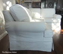 Sure Fit Sectional Slipcover Sectional Slipcover In Natural Duck Cloth The Slipcover Maker