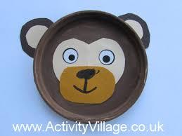 Monkey Paper Plate Craft - monkey crafts