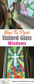 faux stained glass kitchen cabinets paint your own stained glass windows decor home ideas
