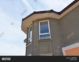 painting plastering exterior house image photo bigstock