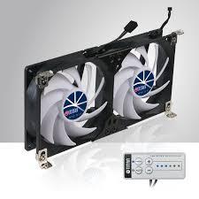 exhaust fan temperature switch 12v dc double rack mount ventilation fan for refrigerator