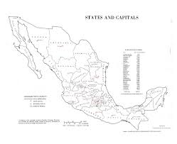 States And Capitals Map by Maps Of Mexico Detailed Map Of Mexico In English Tourist Map