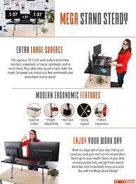 amazon com mega stand steady standing desk extra large height