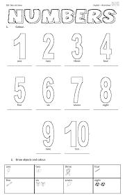 free printable number worksheets printable pinterest free