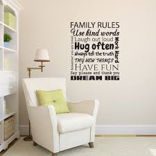 wall decals stickers home decor home furniture diy family rules wall sticker quote wall decal