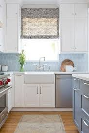 Blue Kitchens With White Cabinets Gray Kitchen Cabinets With Blue Tiles Design Ideas