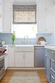 blue backsplash kitchen white and blue kitchen with blue walker zanger 6th avenue cocoon
