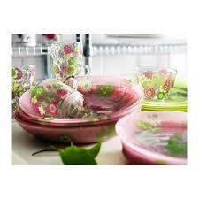 ikea pink plates ikea ideell plate green pink 27 cm amazon co uk kitchen home