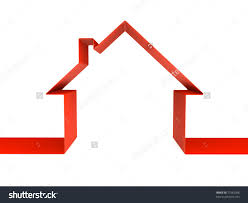 red house outline clipart collection