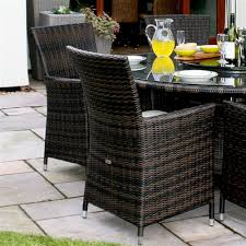 6 Seater Patio Furniture Set - leisuregrow madrid 6 seater rattan garden furniture set round