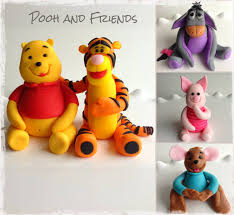 winnie the pooh cake topper winnie the pooh and friends fondant cake toppers violets vanilla