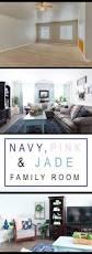 Quick Living Room Decor Pink Navy Blue And Jade Family Room Decor Reveal Jo U0027s House