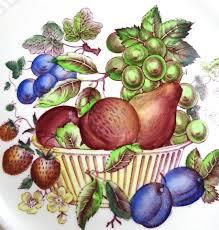 basket of fruit vintage wedgwood painted basket of fruit transferware salad p