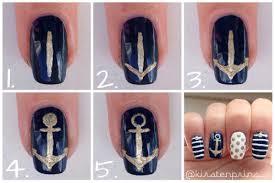 nautical nail art on www onceuponablog nl by kirsten prins