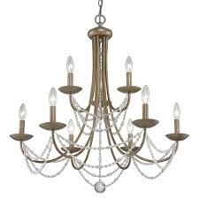 Jefferson 9 Light Chandelier Traditional - golden lighting u0027s mirabella 2 tier 9 light chandelier 7644 9 ga